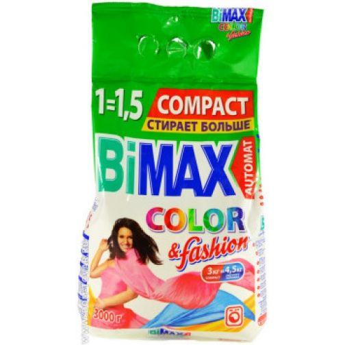 Стир. порошок BiMax 3кг автомат Color & fashion фн