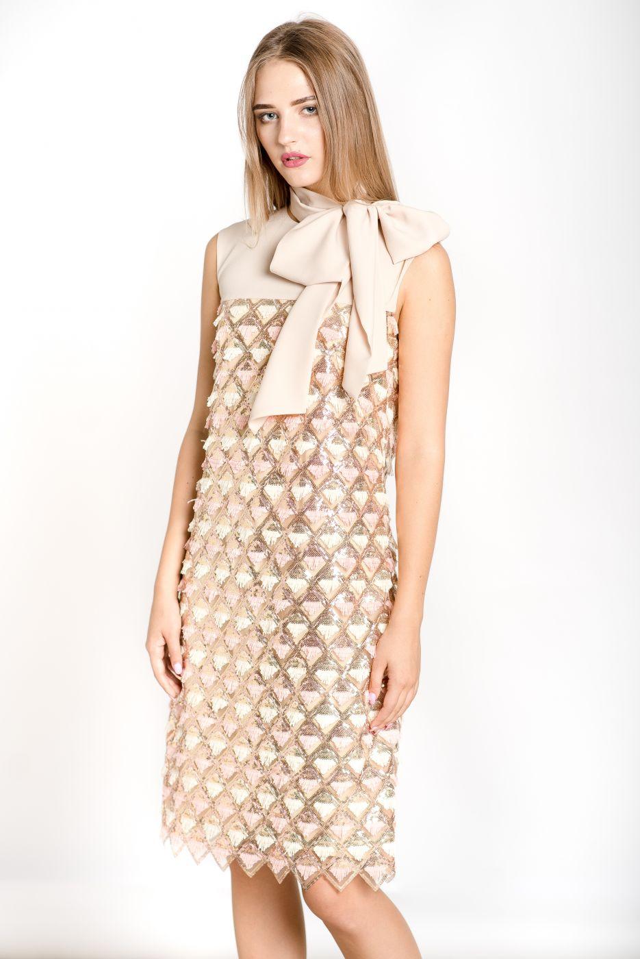 Модное коктейльное платье ROMAN RUSH
