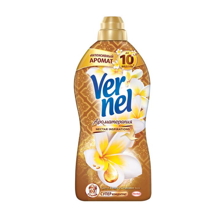 Кондиционер д/белья Вернель 1,82л Цветок ванили и цитрусовое масло