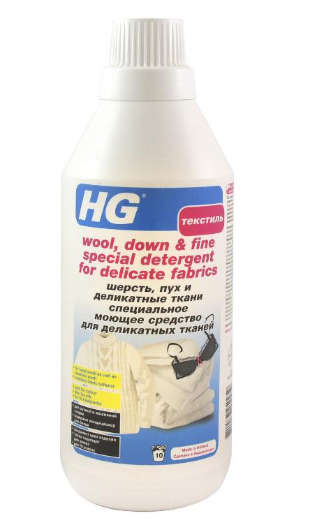 """HG специальное моющее средство для деликатных тканей """"Шерсть, пух и деликатные ткани"""", 750 мл"""