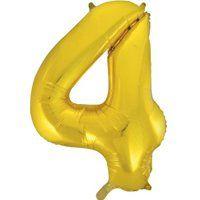 Фигура Цифра 4 Gold 99см