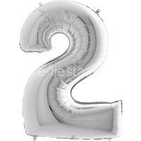 Фигура Цифра 2 Silver 99см