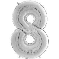 Фигура Цифра 8 Silver 99см