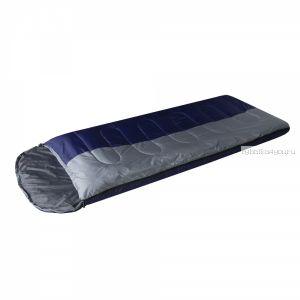 Спальный мешок Prival Camp Bag + синий/серый /одеяло с подголовником, размер 220х95, t 0 +15С