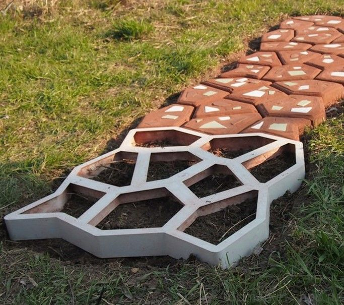 Форма для садовой дорожки Мозаика, 60х60 см