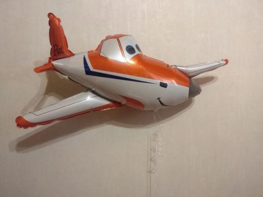 Дасти #1 самолет фольгированный шар с гелием