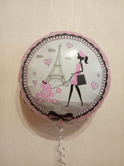 Парижанка - шар фольгированный с гелием