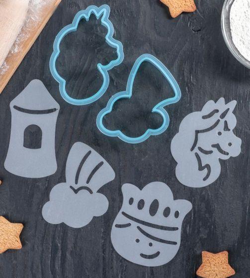 Набор форм для вырезания печенья «Единорог» с трафаретами