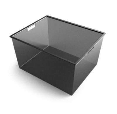 Корзина мелкосетчатая на 3 рельса,  527х427х285, черный