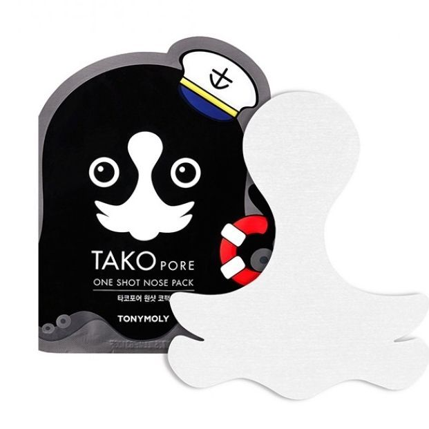 Tony Moly Tako Pore One Shot Nose Pack Патч для носа 1 шт.
