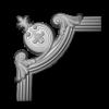 Угловой элемент Европласт Лепнина 1.52.284 Ш256хВ256хТ26