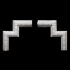 Угловой элемент Европласт Лепнина 1.52.328 Ш250хВ250хТ30
