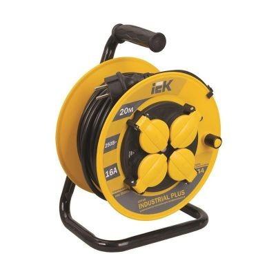 Сетевой удлинитель IEK катушка УК50 с т/з 4 места 2Р+PЕ/50метров 3х1,5мм2 IP44 ''Industrial plus''