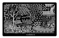 Пластина для стемпинга большая FLOWERS 16