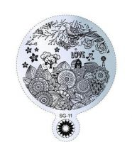 Пластина для стемпинга круглая SG 11