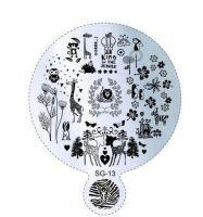Пластина для стемпинга круглая SG 13