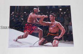 Автографы: Жан-Клод Ван Дамм, Боло Йенг. Кровавый спорт
