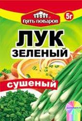 Приправа зеленый лук сушеный 5г 5 поваров