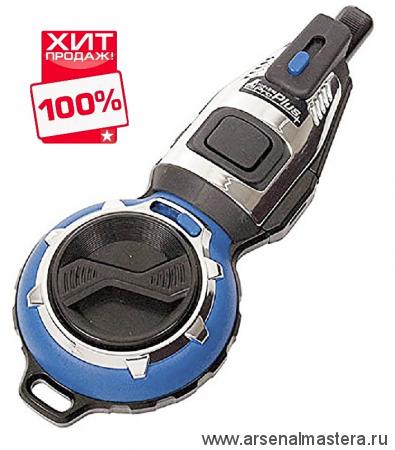 Отбивка чернильная (отбивочный шнур) Shinwa 20м синий корпус Pro Plus, автоматический возврат нити М00013234 ХИТ!