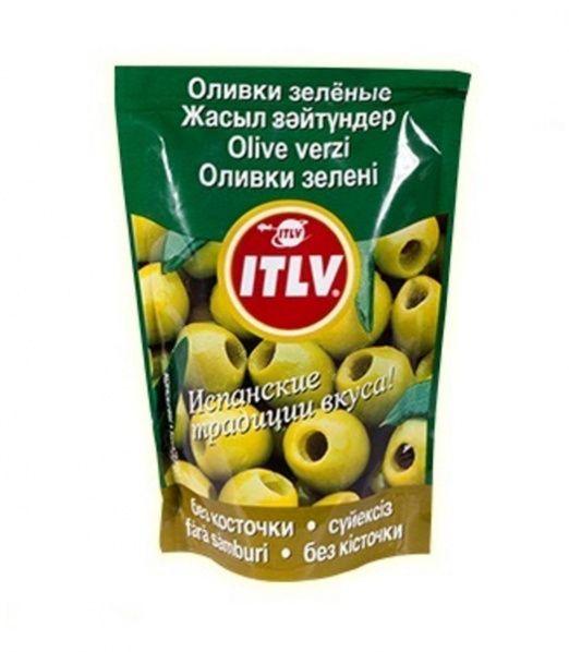 Оливки ITLV зеленые б/к д/пак, 195г Испания
