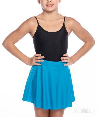 Юбка для гимнастики голубая