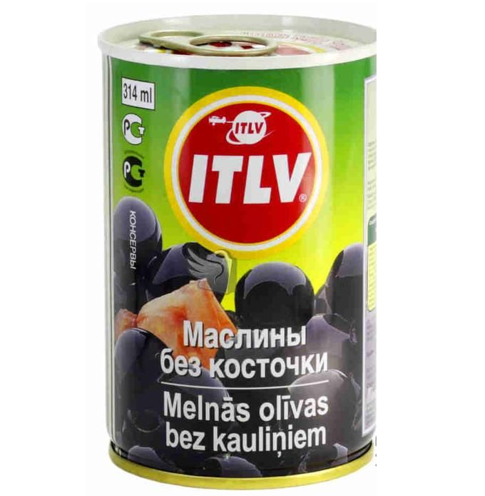 Маслины ITLV черные б/к, ж/б, 314мл. Испания
