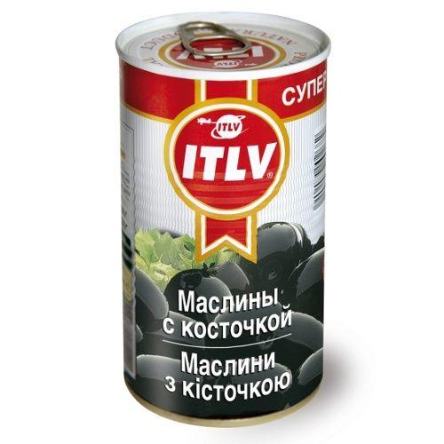 Маслины ITLV черные Супер с/к, ж/б, 370мл. Испания