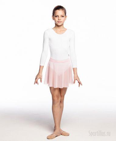 розовая юбка-сетка для гимнастики