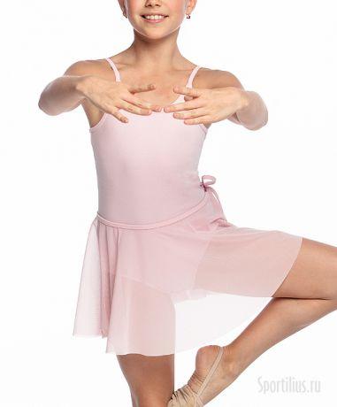 Юбка сетка на завязках розовая