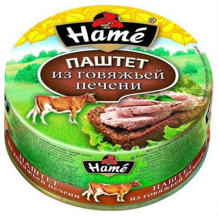 Паштет ХАМЕ 117г говяжья печень ж/б