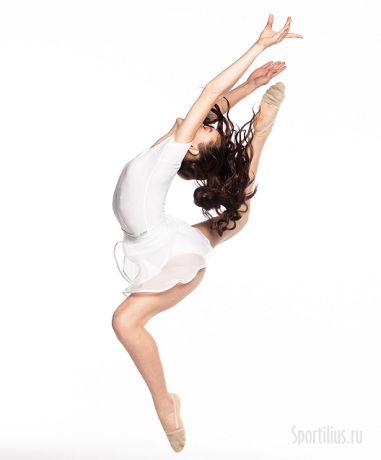 юбка сетка на завязках гимнастическая белая