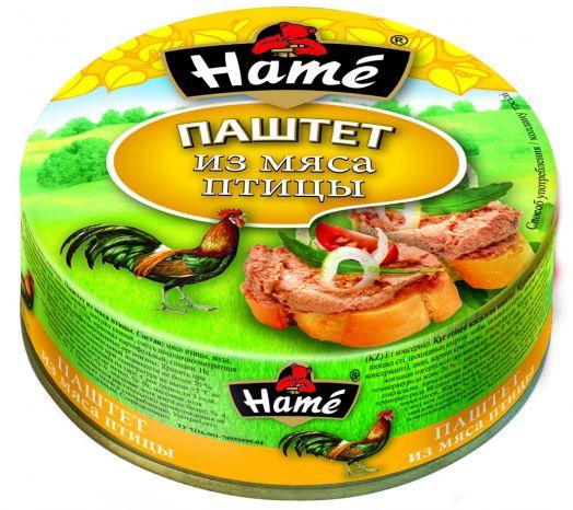 Паштет ХАМЕ 117г мясо птицы ж/б