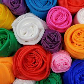 Шёлковый платок 15 см - разные цвета