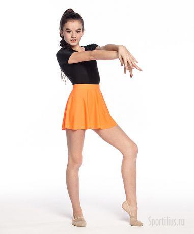 оранжевая юбка для гимнастики