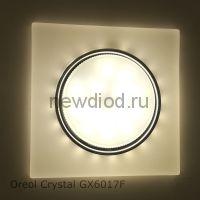 Точечный Светильник OREOL Crystal GX6017F 120×120/85mm под лампу GX53 H4 КВАДРАТ Белый МАТОВЫЙ