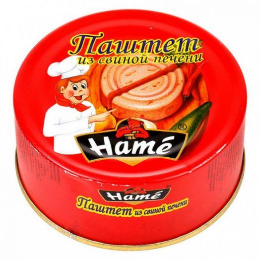 Паштет ХАМЕ 117г свиная печень ж/б