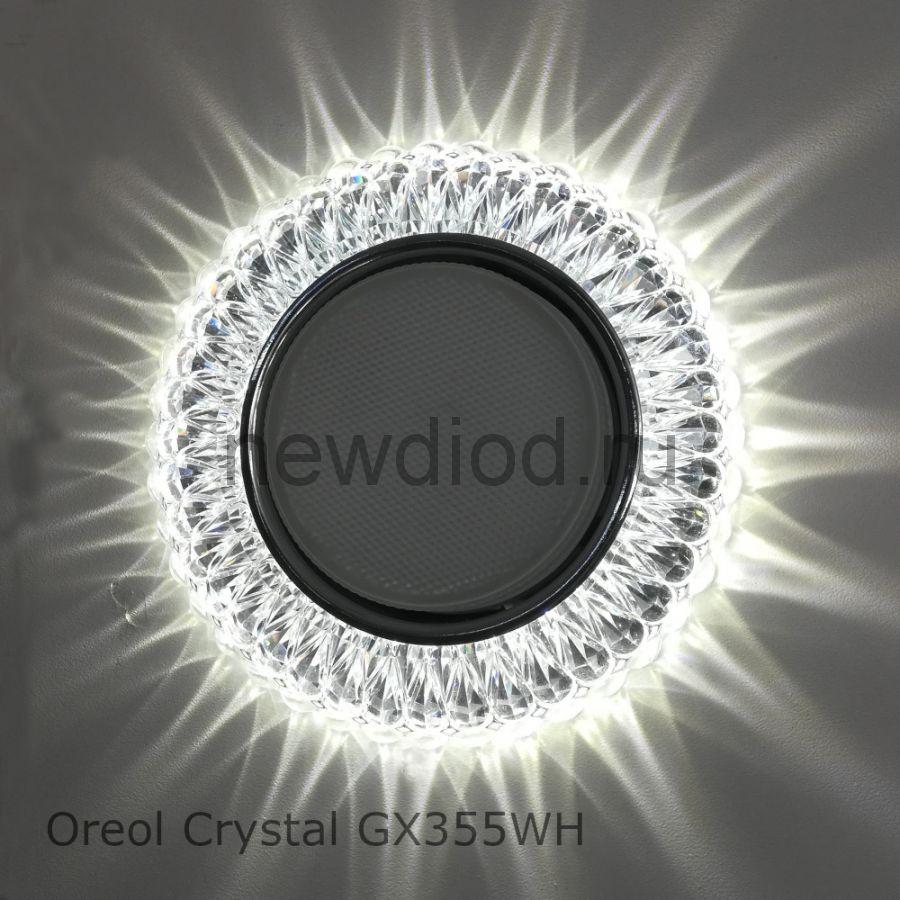 Точечный Светильник OREOL Crystal GX355 130/85mm под лампу GX53 H4 Белый