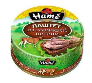 Паштет ХАМЕ 250г говяжья печень ж/б