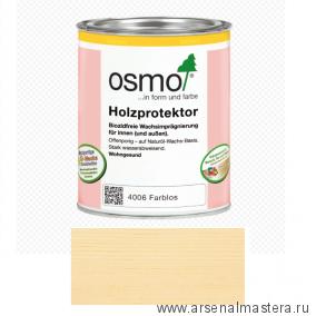 Пропитка для древесины с водоотталкивающим эффектом (для кухонных столешниц, рабочих поверхностей и мебельных щитов) Holzprotektor Osmo 4006 0,75 л
