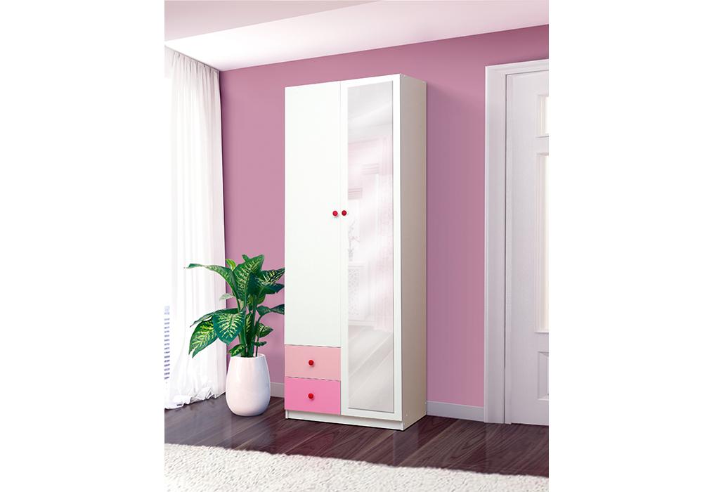 """Шкаф 2-х дверный с ящиками и зеркалом """"Радуга"""""""