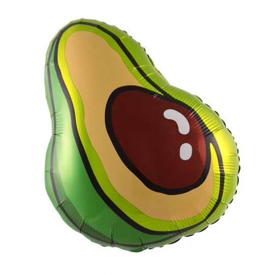 Авокадо шар фольгированный с гелием