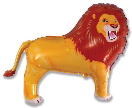 Лев шар фольгированный с гелием
