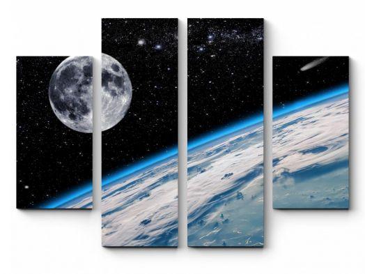 Модульная картина Сияние космоса