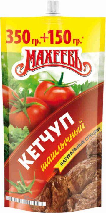 Кетчуп МАХЕЕВЪ шашлычный д/п 500г