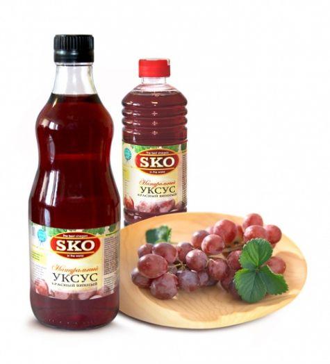 Уксус SKO красный винный 500 мл пл/б