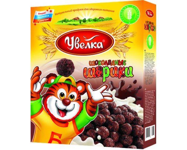 Завтрак Шоколадные шарики глазированные сахарным сиропом 200г Увелка