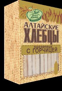 Хлебцы Алтайские Пшеничные с горчицей 75г Бийск