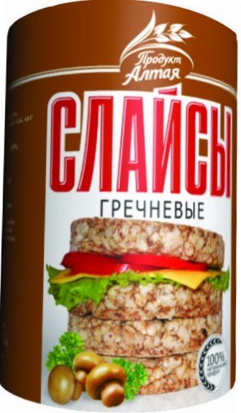 Хлебцы-слайсы гречневые 75г Бийск