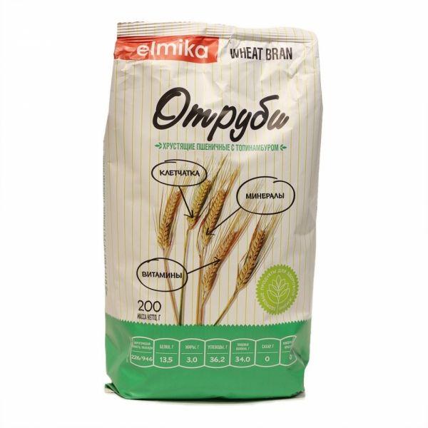 Отруби Элмика хрустящие пшеничные с топинамбуром 200г