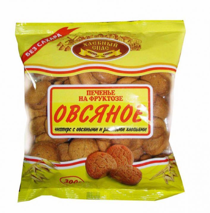 Печенье Хлебный Спас Овсяное с ржаными и овсяными хлопьями на фруктозе 300г